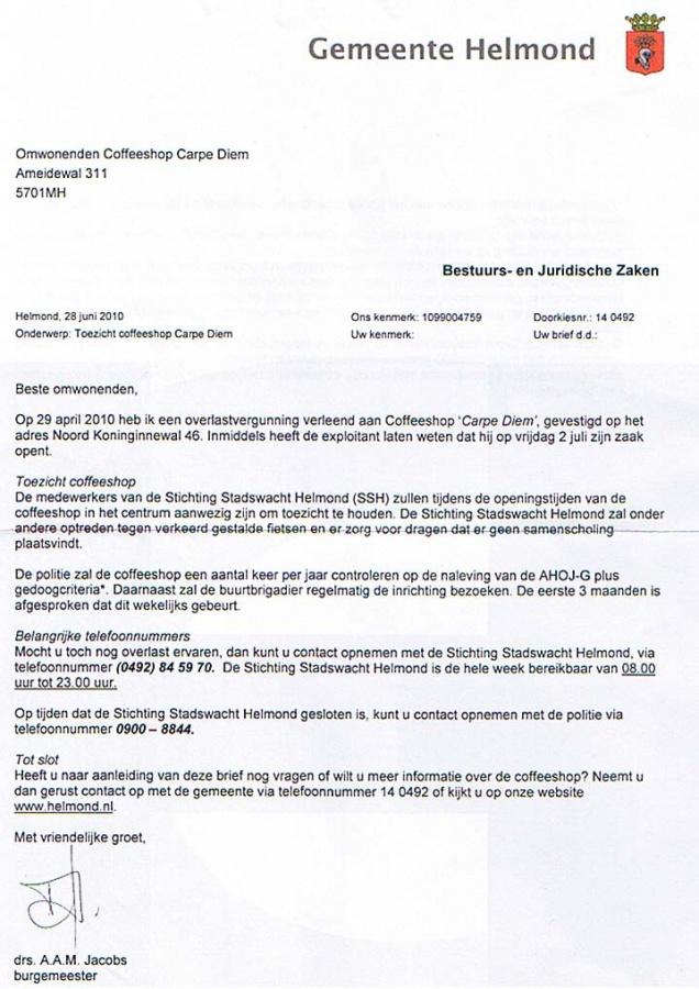 De weblog van Helmond » Schimmig gevecht rond Carpe Diem