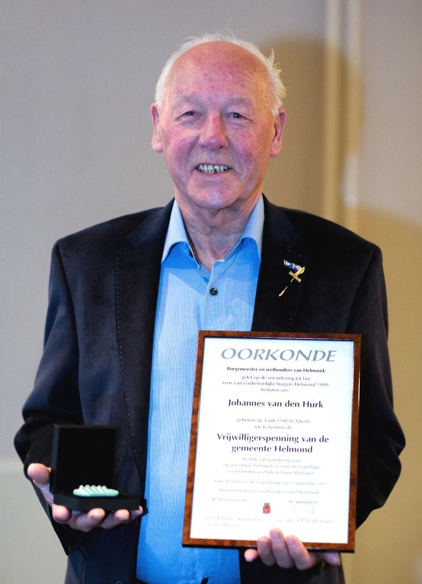 De Weblog Van Helmond Vrijwilligerspenning Voor Jan Van Den Hurk